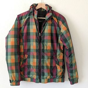 North Face Jacket Plaid Checkered Colorful Coat Sm